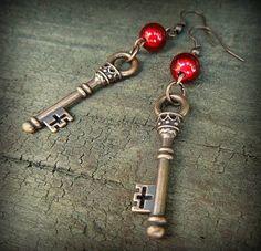 havranka / Náušnice Handmade Jewelry, Personalized Items, Handmade Jewellery, Jewellery Making, Diy Jewelry, Craft Jewelry, Handcrafted Jewelry