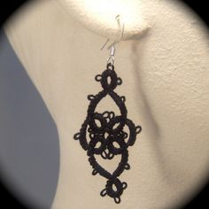 Tatted Lace Earrings  Victoriana by TotusMel on Etsy, $15.00