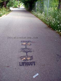 Uproot, a #streetart stencil on Toronto's rail path #graffiti