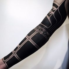 Blackwork tattoo sleeve by Nissaco Tatau