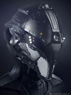 concepto de casco de estilo militar