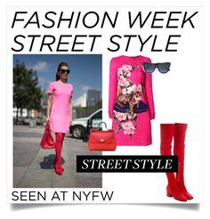 """Snap It: NYFW Street Style"" by haikuandkysses ❤ liked on Polyvore featuring Dorateymur, Dolce&Gabbana, Bottega Veneta, NYFW and Street_Style_Fashion"