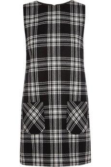 Karl Lagerfeld Punk tartan wool mini dress  | NET-A-PORTER