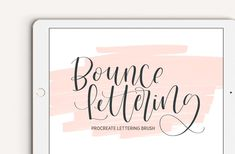 Ad: Bounce Lettering Procreate Brush by The Ampersand Shop on Love bounce lettering? This Procreate brush makes creating bounce lettering using Procreate on your iPad Pro easy. This brush has a smooth Lettering Styles, Brush Lettering, Ipad Pro, Cute Wallpapers For Ipad, Lettering Tutorial, Business Card Logo, Things That Bounce, Illustration, Brushes