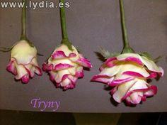 Todo Flores de Porcelana Fria: Rosas Paso a paso Decoupage, Christmas Ornaments, Holiday Decor, Cold, Rose Petals, Decorating Cakes, Cold Porcelain, Roses, Christmas Jewelry