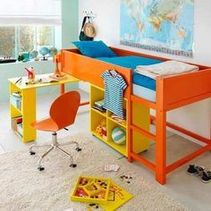 Turn an Ikea Kura Bed to a Loft Bed With Bookcase and Desk