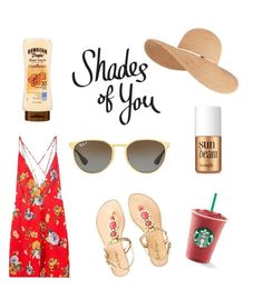 """""""Shades of You: Sunglass Hut Contest Entry"""" by wtevrtany ❤ liked on Polyvore featuring Ray-Ban, Benefit, Eugenia Kim, Lilly Pulitzer and shadesofyou"""