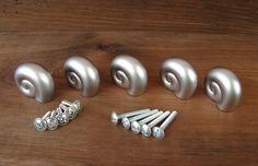 5 Möbelgriffe Metall Schnecke Möbelknopf Möbelknauf Griff Knauf Möbelgriff