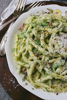 Pasta with Broccoli and Bacon Sauce by simpleprovisions, via Flickr