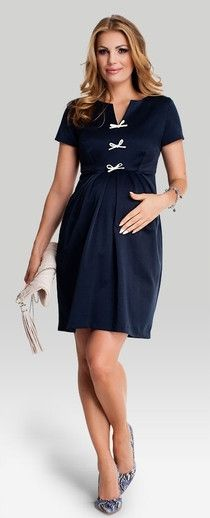 Bumpsnbabies Maternity & Childrenswear - Princess Navy Maternity Dress
