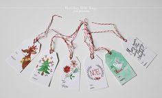 holiday gift tags - free printable