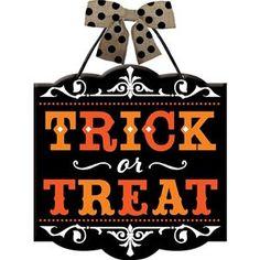Trick-or-Treat Sign - 382873 | trendyhalloween.com