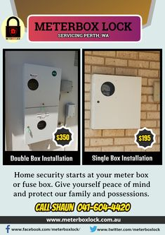 lock your power meter box or fuse box to prevent unauthorized tampering   install #meterbox