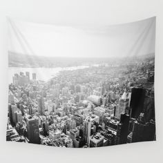 New York City - Fog Wall Tapestry