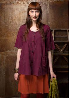 Einfarbige Bluse aus Baumwolle/Modal 55603-55.jpg