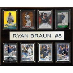 C Collectables MLB 12x15 Ryan Braun Milwaukee Brewers 8-Card Plaque