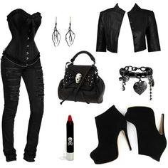 Casual Black Corset