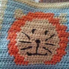 Ravelry: Lion Face Square pattern by Amy Carrico
