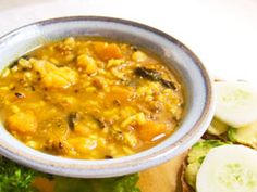 Mung Bean Veggie Rice Soup