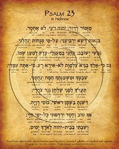 The Lord's Prayer Hebrew Poster with complete transliteration and translation…