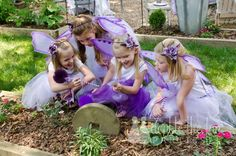 a fairy scavenger hunt. I gave the girls their first clue and then they had to find each of the next clues. I hid these in Linden's garden before the party. It was fun making up the little rhymes for each clue. The hunt eventually led the girls to pixie dust necklaces — much excitement! (See the tutorial for the washi tape boxes here.)