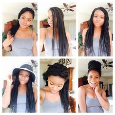 15 Quick And Easy Box Braids Hairstyles [Video] - community. 15 Quick And Eas Box Braids Hairstyles, Try On Hairstyles, Black Hairstyles, Natural Braids, Pelo Natural, Natural Hair Styles, Short Hair Styles, Natural Beauty, Long Box Braids