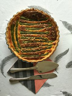 Green Asparagus Tart with Walnuts