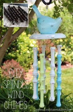 DIY Spindle Wind Chimes | Hometalk