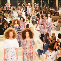 Every look from Karl Lagerfeld's stunning Chanel Cruise 2015 collection http://uk.bazaar.com/1jHfhkm