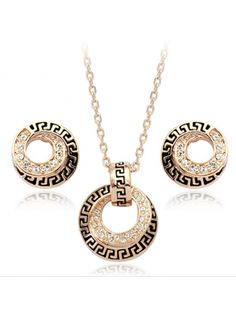 Gorgeous New Arrival Alloy with Rhinestone Jewelery Set