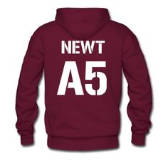 Show your love for Newt by proudly wearing this hoodie! Perfect for keeping you cozy when spending a night in the maze.