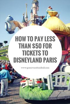 Disneyland Paris discounted tickets. How to save money on your tickets for Disneyland and Walt Disney Studios Park in Paris France. Read before you buy tickets for your Paris vacation! Great Paris travel deal.
