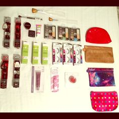Cosmetic Bags & Cosmetics Lot 3 Ipsy cosmetic bags. All great condition. 1 cosmetic bag (polka dot) does have minor cosmetic stains (not Ipsy). You may mix and match to create a lot you like including bag. NYC eye shadows are to create smoky eye effect but colors vary depending on your eye color. The corrector is for all skin types, it helps with blemishes, age & dark spots. Eyelashes come with glue. All cosmetic bags are 7x5. If you have any questions don't hesitate to ask! Price varies…