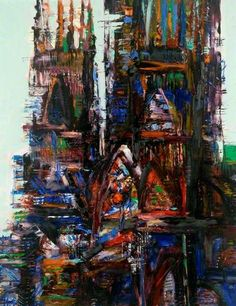 Cathedral by Russell Platt 1977. Great friend of my Dad and studied at the Royal college with mum. Bank Of England Collection.