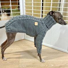 Italian Greyhound apparelhandmade knitwear-Melange by inksWardrobe