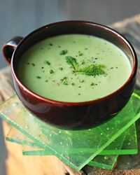 Pea and Parsnip Vichyssoise with Tarragon // More Fabulous French Recipes: http://www.foodandwine.com/slideshows/french #foodandwine