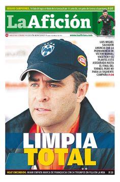 Aquí la portada de La Afición de hoy 4 de Marzo del 2013 - LIMPIA TOTAL