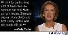 Carly Fiorina is a woman, a conservative, and the former CEO of HP. A strong woman. She knows foreign leaders, and has dealt with world issues for a decade. What Ya think?