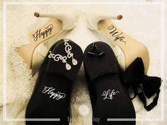 Happy Wife Happy Life Wedding Shoes Decals Wedding Shoes