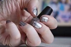 Visualized Heaven: 2/18 Nail Challenge - Silver Zebra