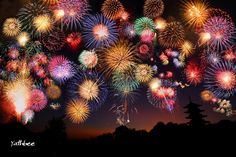 Medium difficulty Jigsaw puzzle depicts a night sky lit up by exploding fireworks. Buy Fireworks, Fireworks Festival, 4th Of July Fireworks, Firework Tattoo, 4th Of July Images, Japanese Festival, Fire Works, Ecole Art, Hanabi