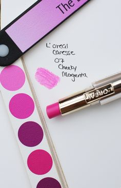 L'Oreal Caresse 07, Cheeky Magenta. BW neon cool pink.