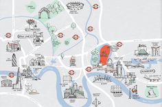 : London City Map- Kat Chadwick