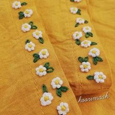 😊 Do you want to learn these very easy flowers? Wait for the video. میخواین این گل های خیلی آسون ُ یاد Embroidery On Kurtis, Hand Embroidery Dress, Kurti Embroidery Design, Hand Embroidery Videos, Embroidery Stitches Tutorial, Embroidery On Clothes, Embroidery Flowers Pattern, Embroidery Suits Punjabi, Shorts E Blusas
