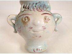 Vase anthropomorphe en céramique, Georges Jouve, 20e - Antiques de Laval