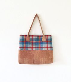 Irish Wool and Cork Natural Eco Friendly Bag by MyCottonHouse