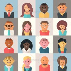 People Avatars | Buy and Download: http://graphicriver.net/item/people-avatars/8756295?WT.ac=category_thumb&WT.z_author=koctia&ref=ksioks