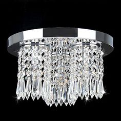 @Overstock.com - Monique Chrome and Crystal Flush Mount Chandelier - Give your home a new look with this attractive chrome finished fixture. This lighting fixture will illuminate any room with style.     http://www.overstock.com/Home-Garden/Monique-Chrome-and-Crystal-Flush-Mount-Chandelier/7026577/product.html?CID=214117  $99.99