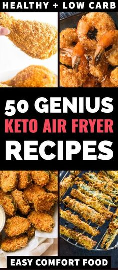 easy comfort food Looking for healthy, low carb keto air fryer recipes? Check out this epic collection of healthy recipes! Were talking easy fried chicken, shrimp, pork chops and fis Keto Foods, Ketogenic Recipes, Diet Recipes, Cooking Recipes, Easy Recipes, Dessert Recipes, Breakfast Recipes, Healthy Foods To Eat, Best Healthy Recipes