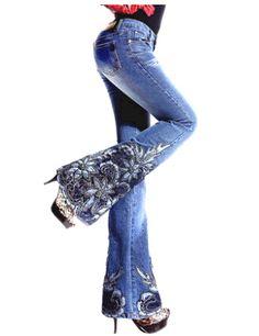 Cheap M 2014 vaqueros cuerno bordado abalorios arranque bordada femenina cortó los pantalones vaqueros pantalones femeninos , envío libre, Compro Calidad Jeans directamente de los surtidores de China:       nota          Estimado mi cliente , Bienvenido a mi tienda ! Póngase en contacto conmigo para confirmar si hay inv